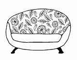 Couch Coloring Coloringcrew sketch template