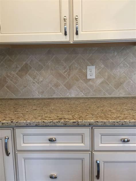 marble kitchen floors travertine baja tumbled t720 3x6 in herringbone 4013