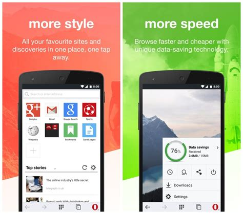 mini opera for android opera mini for android receives a major update introduces