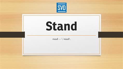 Define Stand By by Stand 187 Definition Meaning Pronunciation Origin