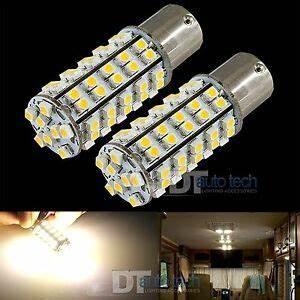 Ba15s Led 12v : 10x 1156 ba15s rv trailer 12v led lights bulbs 68 smd warm ~ Kayakingforconservation.com Haus und Dekorationen