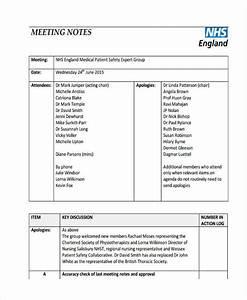Agenda Samples Meeting Note Example