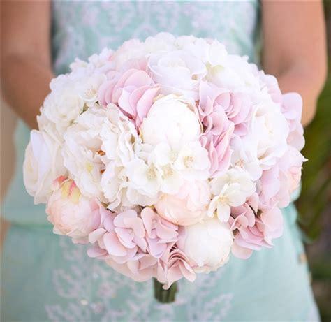 blush pink hydrangeas peonies  roses bouquet bundle