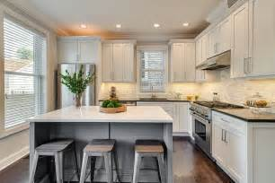 kitchen island molding contemporary kitchen with flat panel cabinets by dan rak