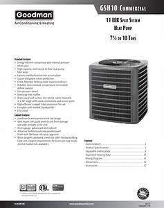 Goodman Mfg Ss Gsh10c Users Manual