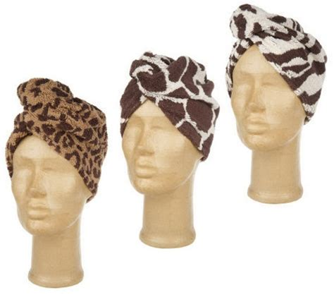 set   animal design jacquard turbie twist hair towels page  qvccom