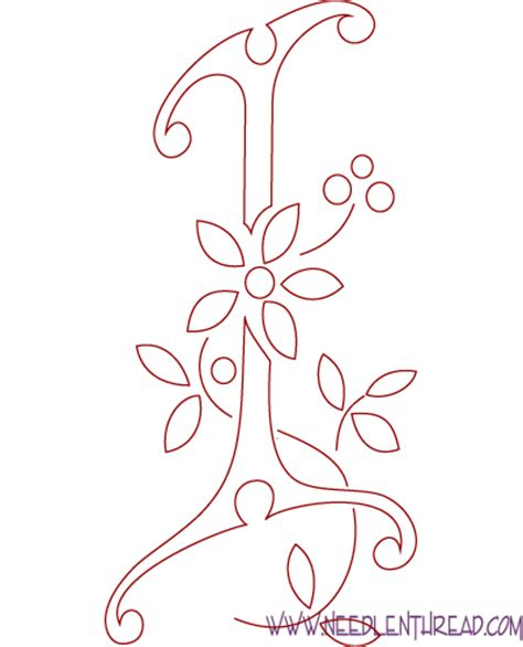 monogram  hand embroidery letters