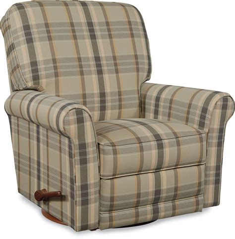 Plaid Recliner by Transitional Swivel Glider Recliner By La Z Boy Wolf And