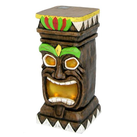 shop garden treasures 20 5 in tiki garden statue at lowes com