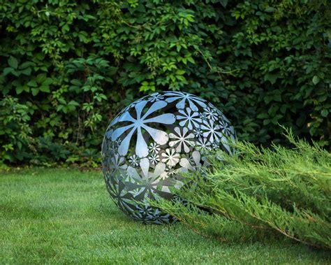welded metal garden sculpture flower a unique