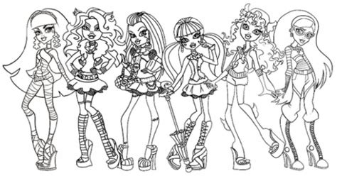 monster high coloring pages getcoloringpagescom