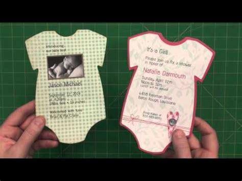 baby onesie invite  announcement youtube
