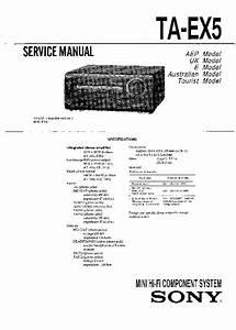 Sony Mhc-ex5  Ta-ex5 Service Manual
