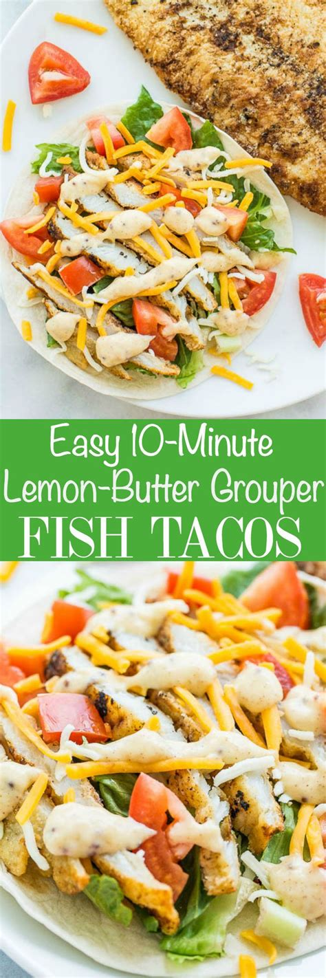 fish recipes grouper easy tacos butter lemon recipe taco sauce minute healthy averiecooks food fresh seafood mexican dishes averie cooks