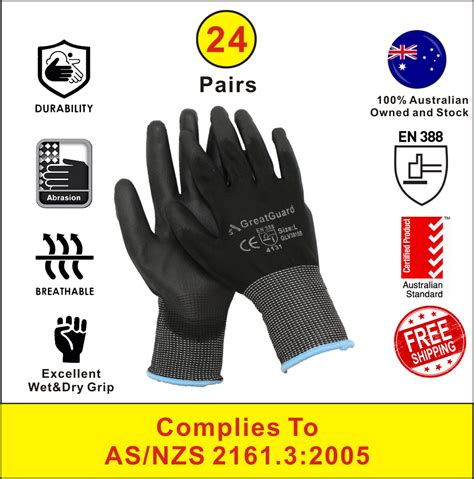 pairs pu coated work safety gloves general purpose