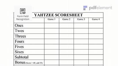 Yahtzee Score Sheet Pdf Wondershare Sheets Printable