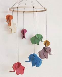 Mobile Basteln Origami : origami l phant mobile mobile l phant baby mobile d cor ~ Orissabook.com Haus und Dekorationen