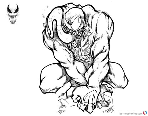 venom coloring pages awesome picture  harosais