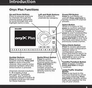 Sirius Xm Radio Sxpl1 Onyx Plus User Manual Onyx Plus