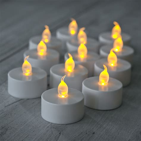 what is a tea light 12 pack of flickering led battery operated tea lights
