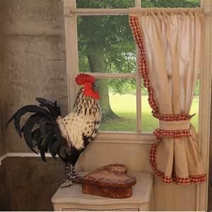 Rideaux Bonne Femme : paire de rideaux beige bordure vichy 2 embrasses assorties pm ~ Teatrodelosmanantiales.com Idées de Décoration