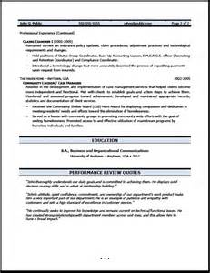claims adjuster resume sle free resumes tips
