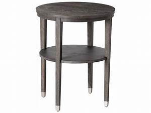 Arteriors Home Gentry Grey Limed Oak 22'' Wide Round End