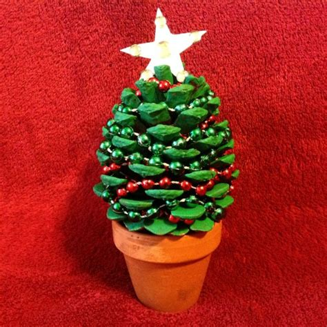 creationsbox a pine cone christmas tree decor step by step