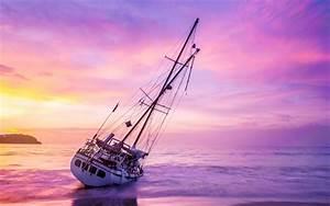 Wolken In Rose : t l charger fonds d 39 cran voilier coucher de soleil paysage marin blanc yacht des nuages ~ Orissabook.com Haus und Dekorationen