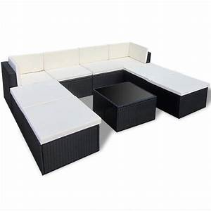 Rattan Lounge Set : vidaxl black outdoor poly rattan lounge set ~ Orissabook.com Haus und Dekorationen