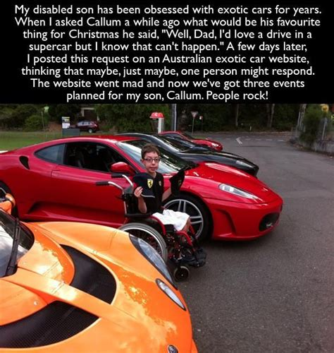 Disabled Son Obessed With Exotic Cars Gets A Dream Come