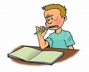 Boy Doing Homework Clipart