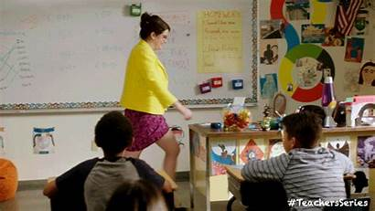 Teachers Gifs Funny Desk Tv Teacher Comedy