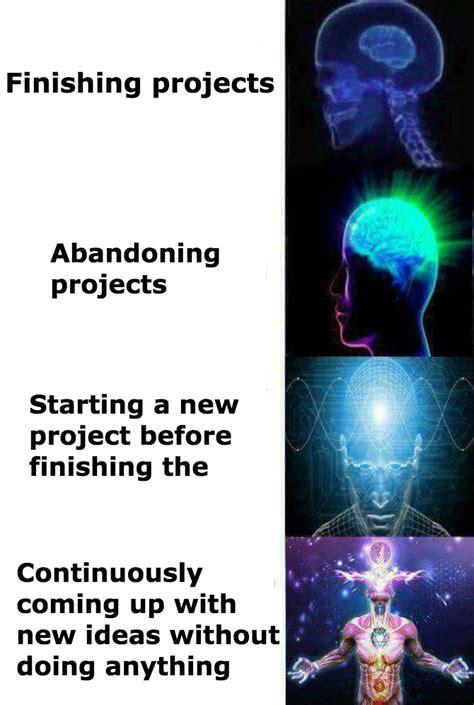 Brain Memes - the creative process expanding brain know your meme