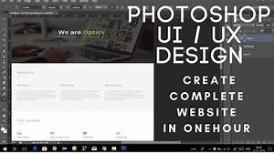 How To Create Complete Website Template Design In