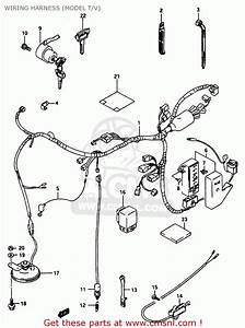 Suzuki Vs800 1995  Gls  Wiring Harness  Model T  V