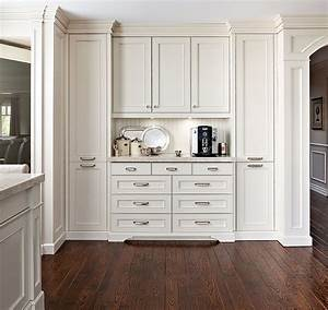 White Kitchen Cabinetry  A Coffee And Tea Station Directs