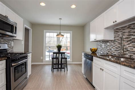 white shaker kitchen cabinets galley style kitchen modern kitchen philadelphia by rta