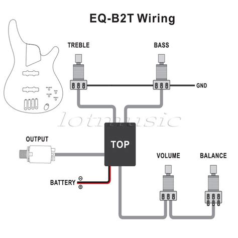 Genuine Belcat Band Active Preamp Circuit For Bass