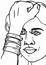Beads Coloring Pages Bracelet sketch template