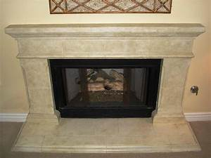 Faux stone fireplace hearth home fireplaces firepits for Faux stone fireplace hearth