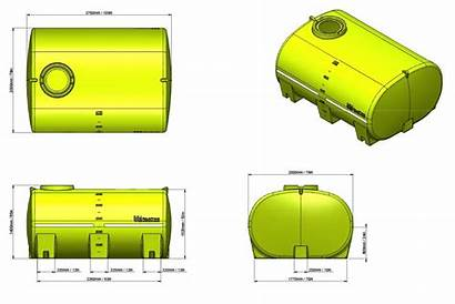 Tank Litre Water Transport 5000l Portable Drawing