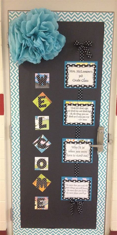 Classroom Door Decorations Ideas by Classroom Decor Ideas Dr Seuss Chevron Quotes Classroom
