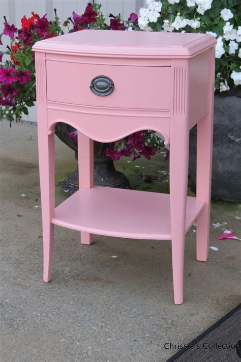 End Table in a Custom Mixed Pink Milk Paint   General