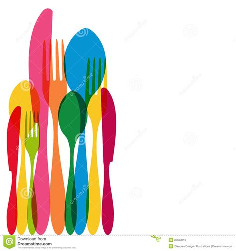 kitchen forks and knives cutlery pattern illustration royalty free stock image