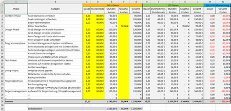 excel vorlage projekt kalkulation controlling pierre tunger