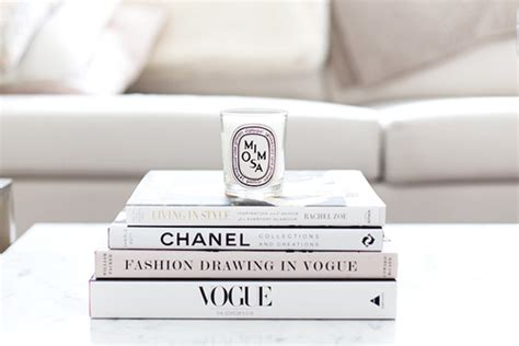 White Books For Decoration by Chanel Vogue Books On The Hunt