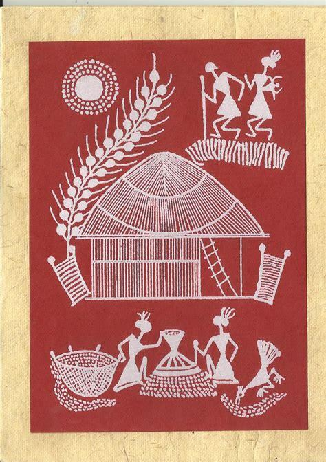 heritage  india warli paintings  cards