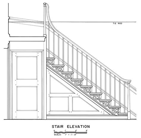 staircase plans  sections