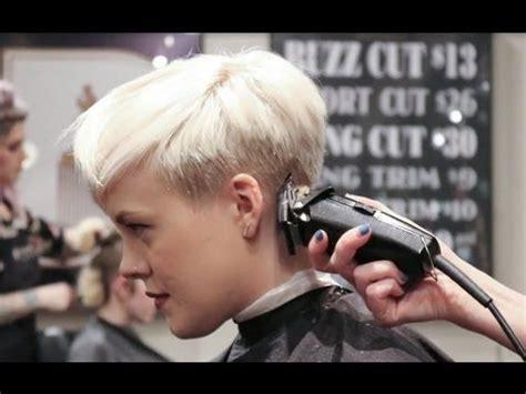 extreme short haircut undercut haircut  girls